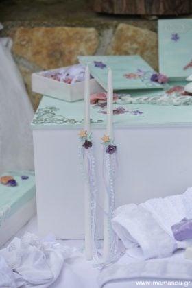 Κουτί βάπτισης με κεριά, πετσέτες, μαρτυρικά και λαδόπανα