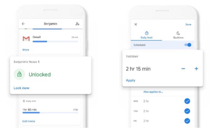 Google Family link - Ρύθμιση χρονικών ορίων οθόνης και κλειδώματος συσκευών