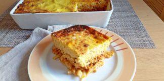 Παστίτσιο με κιμά κοτόπουλου, λαχανικά και τυρένια κρέμα