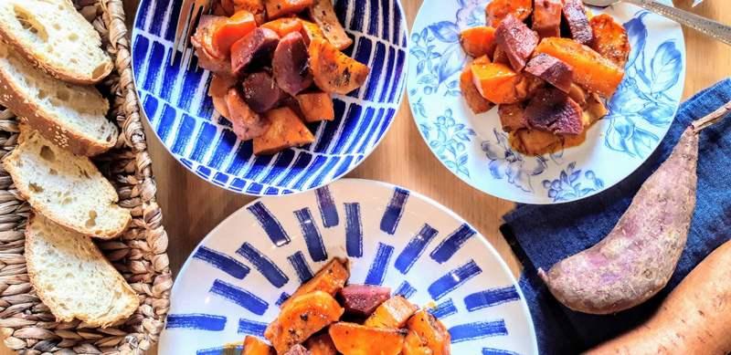 Χειμωνιάτικο Μπριάμ με δύο είδη πατάτας και κίτρινη κολοκύθα