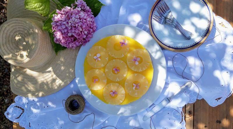 Cheesecake anana